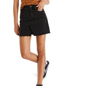 Madewell A-line Rigid Denim Skirt Lunar Wash
